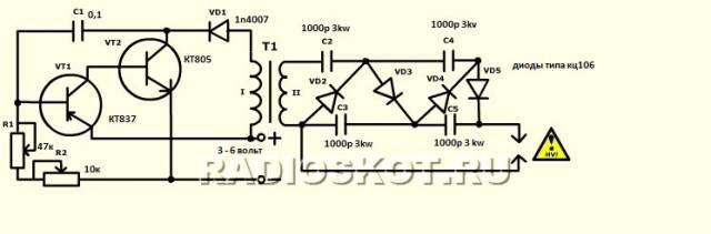 Как можно сделать электрошокер своими руками