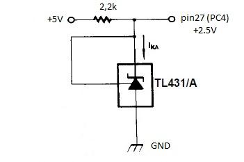 Схема простого терморегулятора на tl431