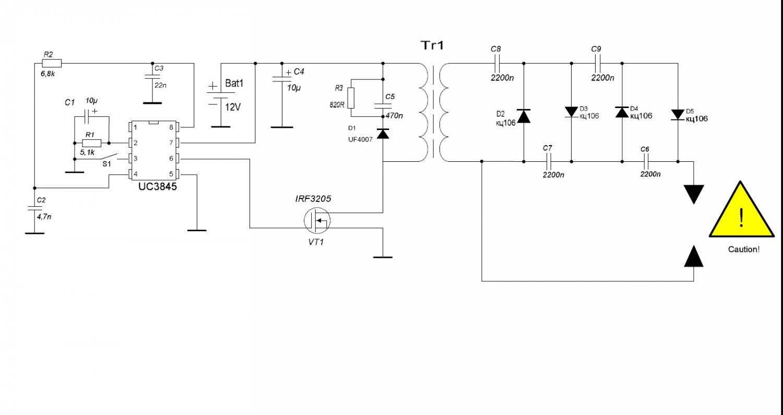 Как сделать преобразователь для электрошокера